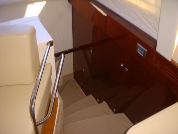 Steps down into lower level Staterooms