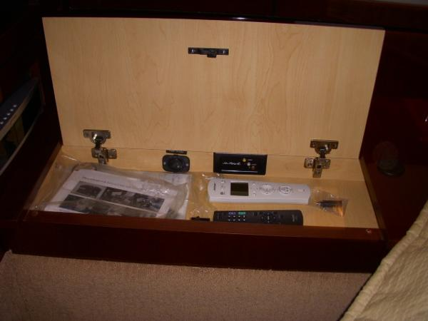 Master Stateroom- one of several storage compartments