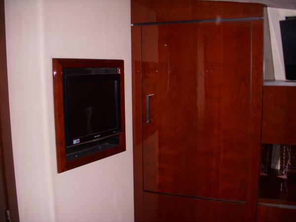 Forward Stateroom- TV/DVD & Starboard Hanging locker