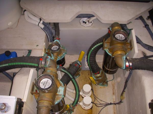 Engine Room- Seacocks & Bilge pumps