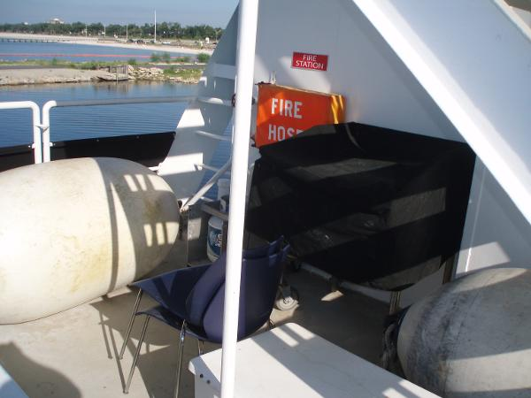 Custom Overnight Passage Maker Gas Grill on the Aft Deck