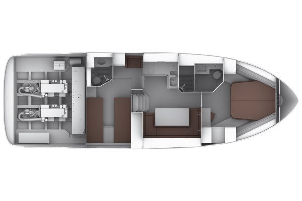 Bavaria Sport 44 Layout Interior Option Layout Plan