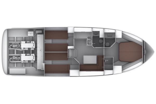Bavaria Sport 44 Interior Option Layout Plan