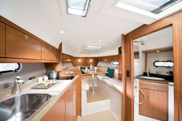 Bavaria Sport 29 Galley and Saloon