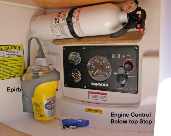 2nd Engine Control Panel Under Top Step