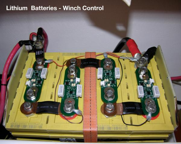 (1of2) Lithium Batteries Banks Below (P) Settee