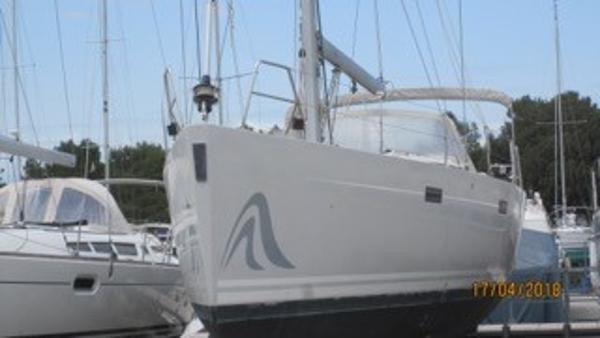 Hanse 470e Hanse 470e 'Songbird' ashore at Aprillia Maritime