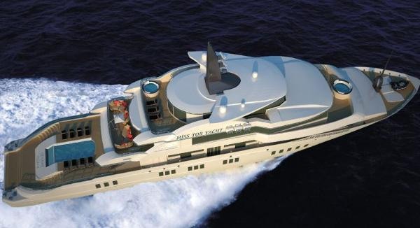 Miss Tor Yacht Custom 270 Aerial View