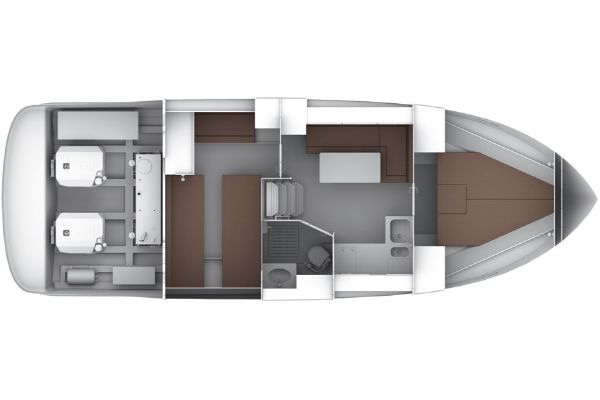 Bavaria Sport 35 Layout Lower Deck