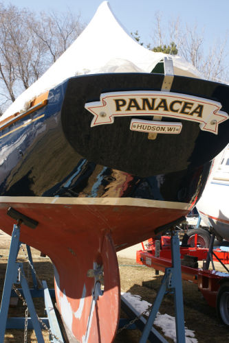 Transom, run and rudder