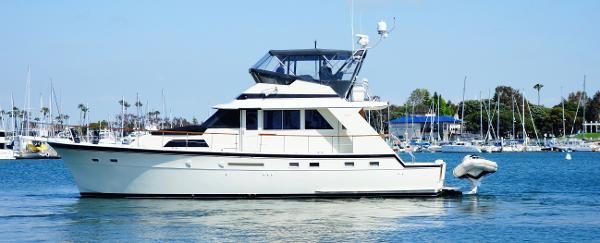 Hatteras 53 Motor Yacht Fisher Port Side View