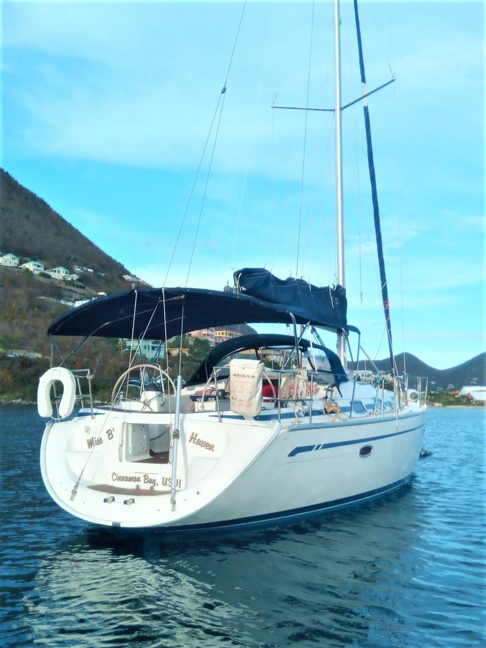 Bavaria 42 Cruiser Miss'B Haven at anchor