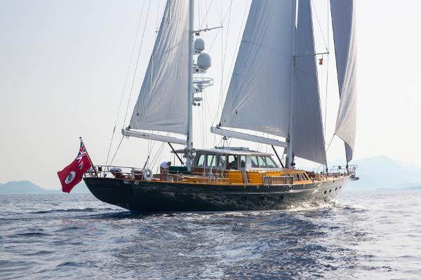 Palmer Johnson 110ft Pilothouse C/B Ketch Sailing - stern