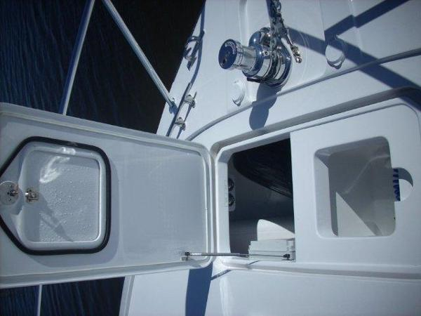 Bow Deck Custom Storage and Livewell Open