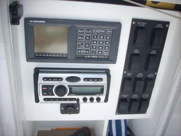 Electronics Console Cabinet- Switches, Stereo, Furuno