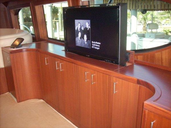 Salon Custom TV Cabinet Open