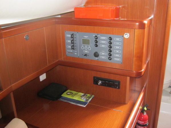 Beneteau Oceanis 31 - Chart table with 12/220V panel