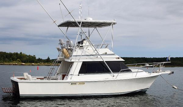 Black Watch Sport Fisherman Flybridge starboard profile
