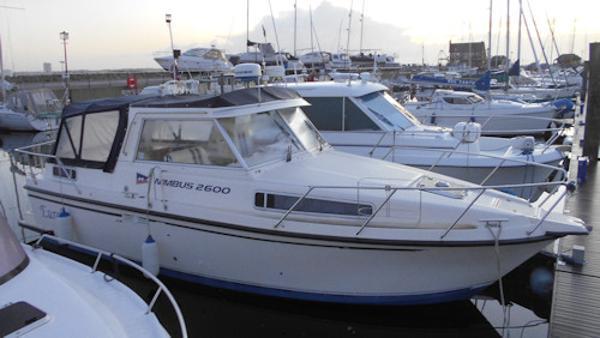 Nimbus 2600 Actual boat on her berth