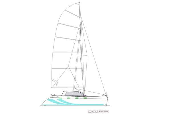 FastCat 445 Sail Plan