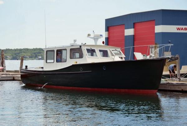 Classic Downeast Lobster Yacht  - Billings Marine Patrol Boat 40' Downeast Lobster Yacht For Sale