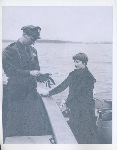 Capt. Kendall Morse, Maine Marine Patrol Officer about 1958