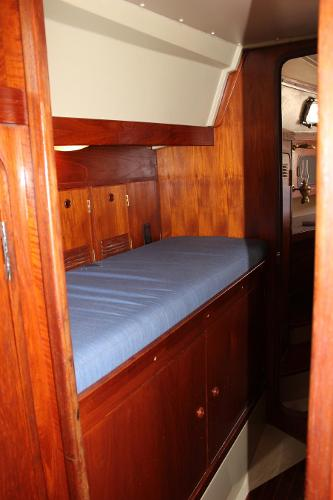Companionway single berth/workspace