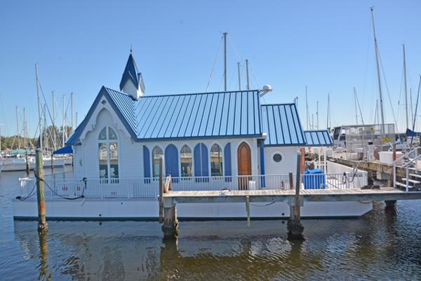 Custom Floating Home Starboard profile of the Wedding Chapel