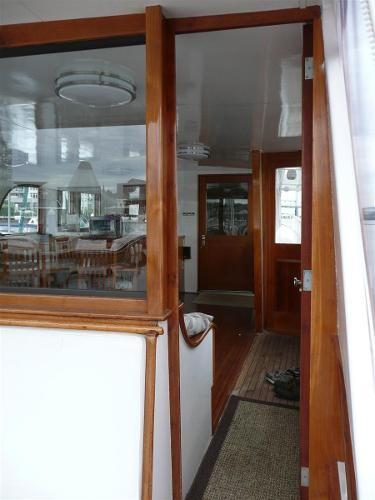 Entrance to enclosed aft deck