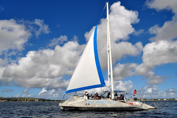 Custom Glassbottom trimaran