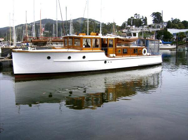 Old cabin cruiser boats
