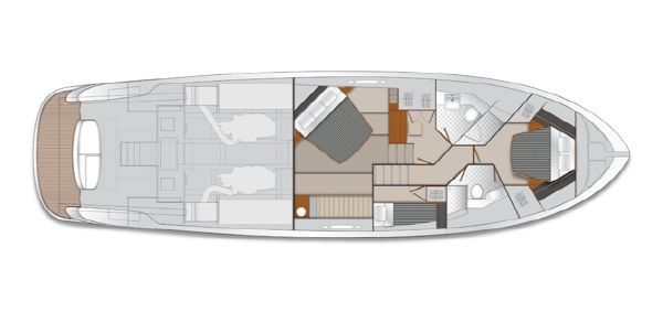 Maritimo M58 Accomodations Layout