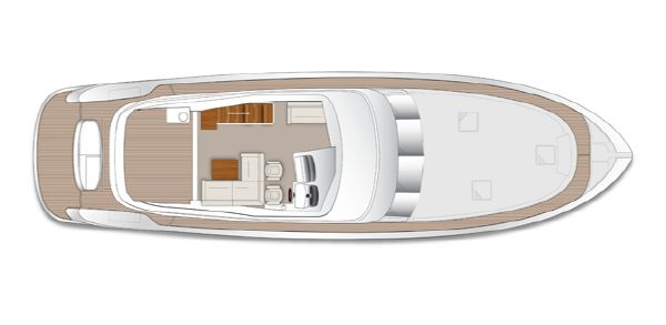 Maritimo M58 Layout Flybridge