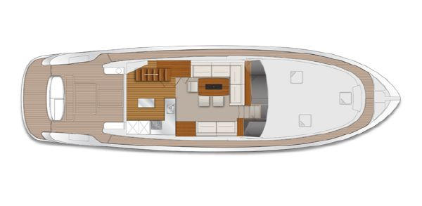 Maritimo M58 Layout Saloon/Cockpit