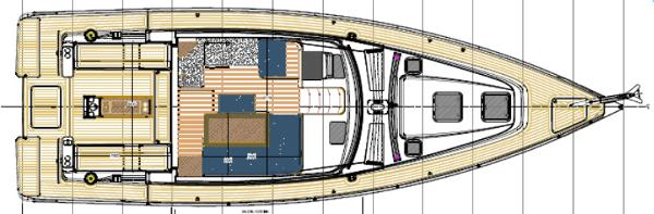 Albatross 42 Upper Deck Layout Plan