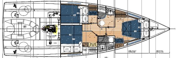Albatross 42 Lower Deck Layout Plan
