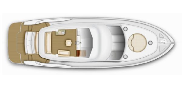 Maritimo C53 Sports Cabriolet Flybridge Option Layout