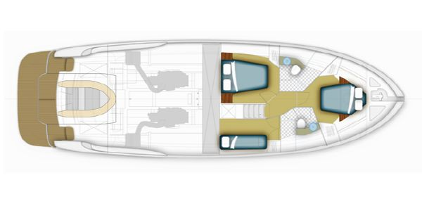 Maritimo C53 Sports Cabriolet Lower Accommodation Layout