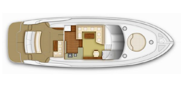 Maritimo C53 Sports Cabriolet Upper Accommodation Layout