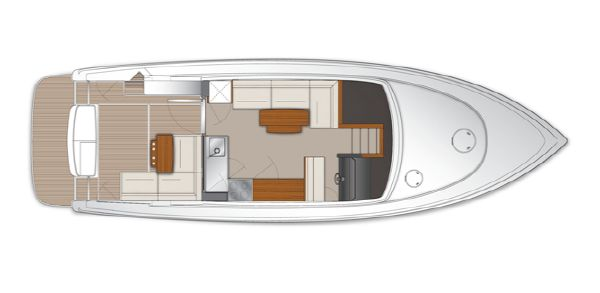 Maritimo Mustang 43 Saloon/Cockpit Layout