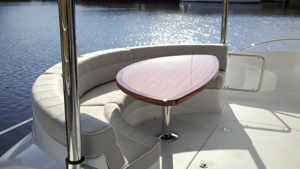 Aft deck lounge custom Release table and upholstery