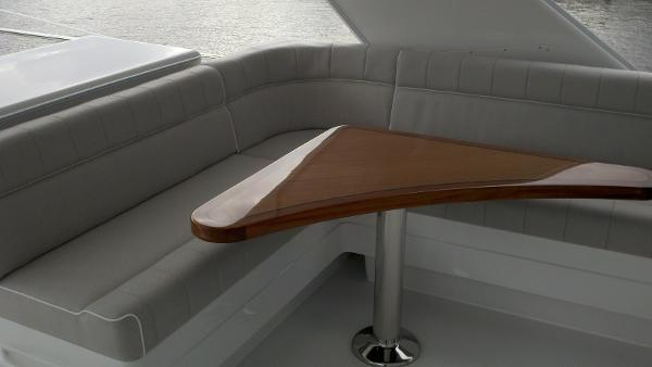 Flybridge seating and custom Release table