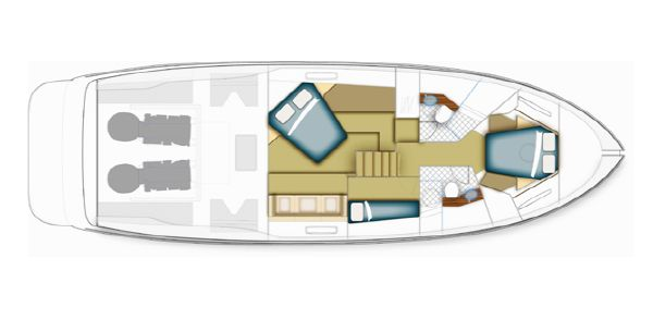 Maritimo Mustang 50 Accomodation Layout