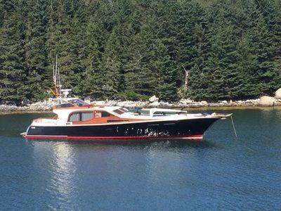 Midnight Lace 52 foot Express Black Swan at Isle au Haut