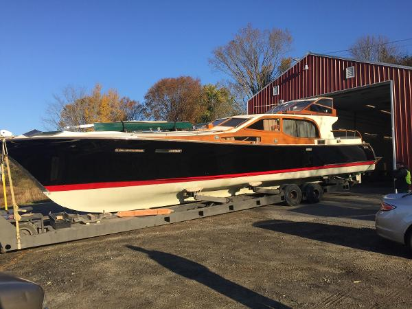 In October 2015 her hull was peeled, epoxied and Awlgripped. The mast was refinished elsewhere.