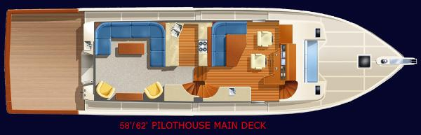 Factory Provided Image of Salon and Pilothouse