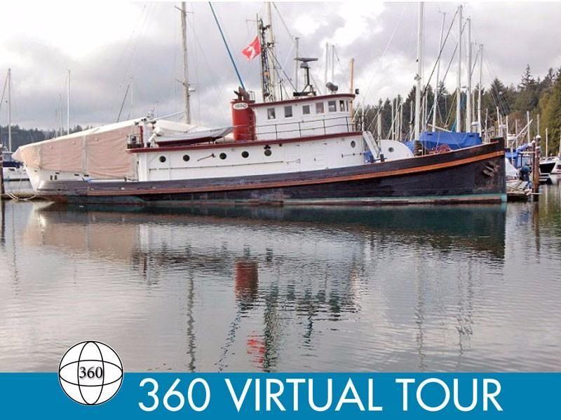 1890 Converted Tug Historic 78 Foot Workboat Liveaboard