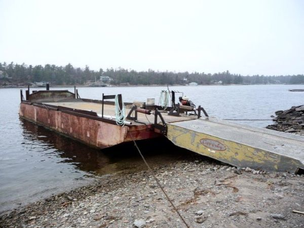 55' x 16' x 5' Steel Deck Barge with  Aluminum Ramp /Rebuilt in 2000