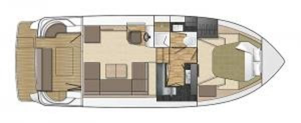 Broom 35 Coupe Lower Galley Layout Plan