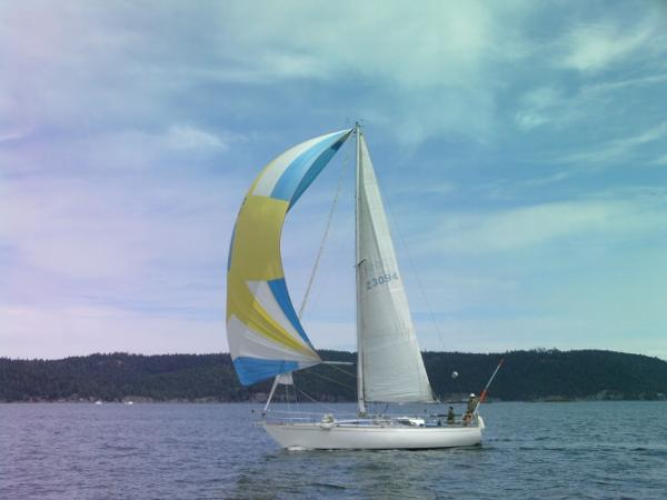 Contessa 35 Contessa 35 running in light winds